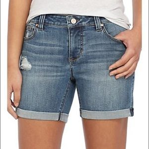 Celebrity Pink | Clean Cuff Roll Shorts Distressed